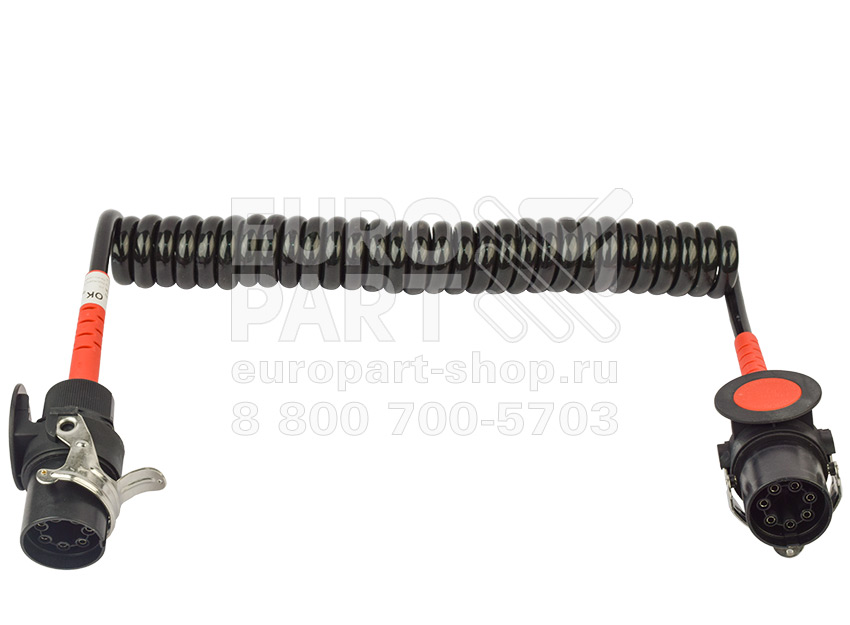 EUROPART / 3131124601 - кабель ABS с разьемами 7 полюсов 24V 4000 мм